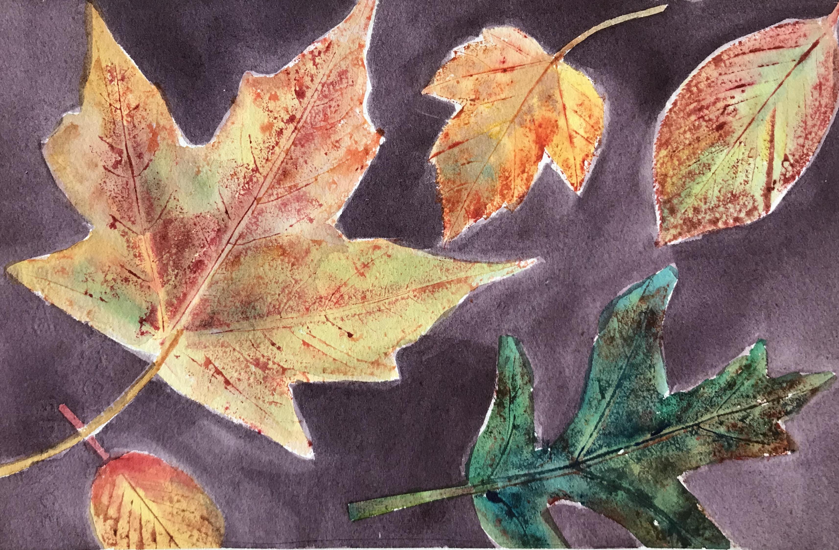 Watercolor Leaf Prints